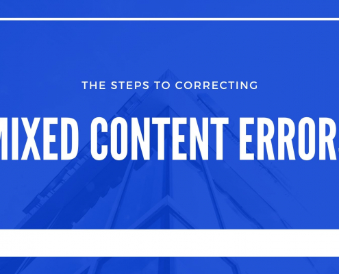 the steps to correcting mixed content errors