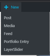 Choose New Post from the Top Menu when logged into WordPress